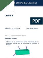 Unidad 3 Clase 1 mecánica medio continuo