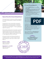 Camp Healing Powers Flier 2015