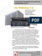 Symantec NetBackup 7.6 benchmark comparison
