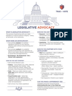 Legislative Advocacy at a Glance