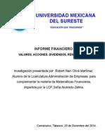 Informe Financiero Oficial