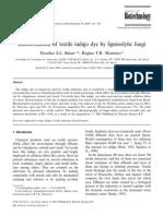 2001_D.S.L.balan_Decolorization of Textile Indigo Dye by Ligninolytic Fungi