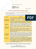 Modificaciones Ley SST 2014