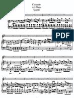 Quantz Concerto G Piano