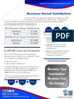 2014-2015 Maximum HSA Contributions