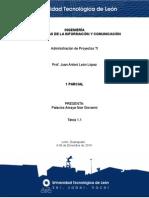 ADMINISTRACION DE PROYECTOS TI