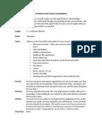 introductory speech assignment details