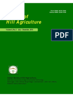 Journal of Hill Agriculture (Print ISSn 0976-7606, Online ISSN 2230-7338)