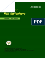 Journal of Hill Agriculture 2013 Vol 4(1)