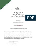 Imam Al-Tahawi - The Tahawi Creed