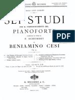 Cesi Beniamino -  6 Studi Da Schubert