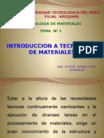 Introducción a La Tecnología de Los Materiales