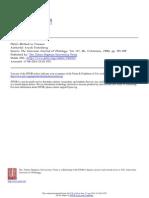 Plao's Method in Timaeus. Aryeh Finkelberg