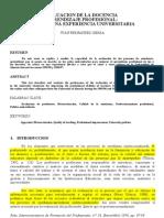 Evaluacion de La Docencia en la universidad Fdez Sierra