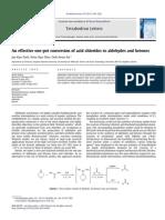 acid chlorides to aldehydes and ketones