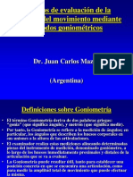 Metodo de evaluacion de Goniometria