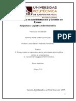 Importancia de las actividades de logística en una empresa