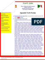 Spanish Verb Forms