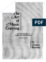 The Art of Music Copying- Clinton Roemer