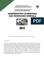 Tabla Agroindustria Agricola