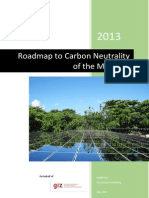 Roadmap to Carbon Neutrality of the Maldives (2013)