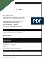How to Use Python Virtualenv