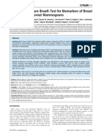 Rapid Point-Of-Care Breath Test for Biomarkers of Breast Cancer and Abnormal Mammograms