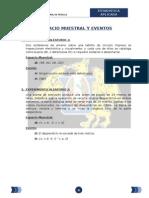 ESPACIO MUESTRAL Y EVENTOS
