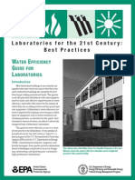 US FEMP Water Efficiency for Laboratories