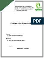 Evaluación Diagnóstica Relaciones Laborales