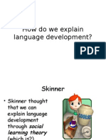 iii  theories of language acquisition