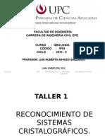 Taller 1 Reconocimiento de Sistemas Cristalográficos