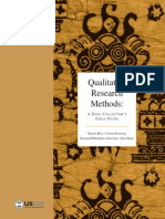 Qualitative Research Methods - A Data Collector's Field Guide