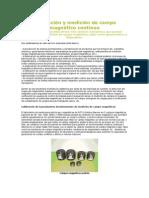 Calibración y Medición de Campo Magnético Continuo