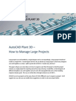 AutoCAD Plant 3D Large Projects