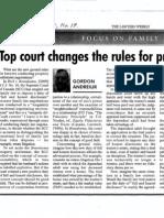 9. Top Court Changes