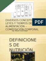 Conceptos, Leyes y Tiempos de La Alimentación Fundamentos