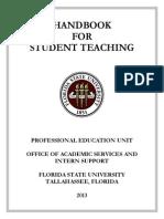 2013 Student Teaching Handbook