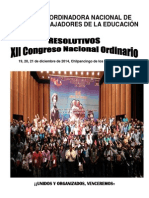Resolutivos XII Congreso Nacional Ordinario Cnte
