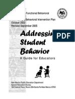 Addressing Student Behavior