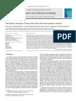 Separation and Purification Technology Volume 106 issue 2013 [doi 10.1016_j.seppur.2012.12.025] Yuan, Wei; Wiehn, Michael; Wang, Yuchen; Kim, Hyun Woo; Rittmann -- Solid-phase extraction of long-chain fatty ac.pdf