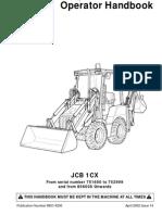 JCB 1CX Operators Manual