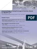 Numerical Study on Drying Shrinkage of Concrete Affected by Aggregate Size