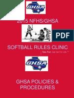 2015 sb rules clinic