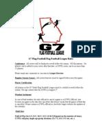 G7 Flag Football Rules