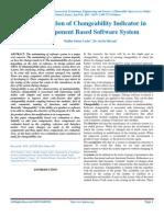IJARTES-V2-I1-001,Evaluation of Changeability Indicator in Component Based Software System