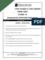 NTSE SAT 2015 Sample Paper