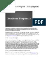 7 Tips Membuat Proposal Usaha Yang Baik Dan Benar