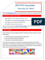 JFB PTO Newsletter 1-15-15