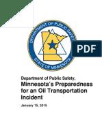 Mn Preparedness Oil Transportation Incident Report